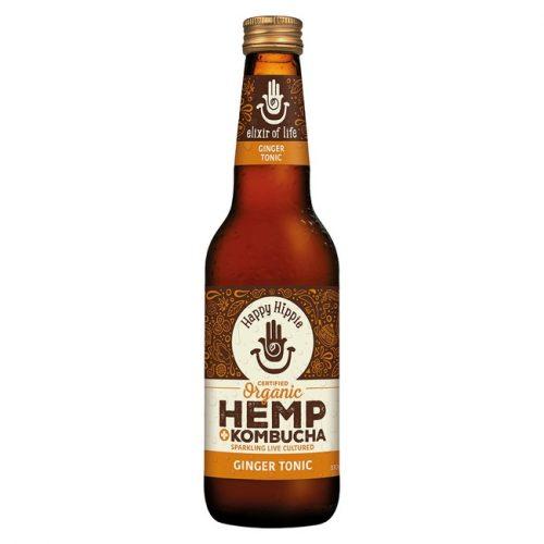 Organic Hemp + Kombucha - Ginger Tonic